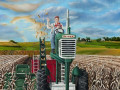 journey of the farmer painting by Cindy Chinn