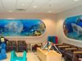 Hospital Mural - Aquarium Windows