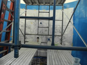 Pounce Pattern to start welding mural