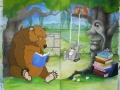 Deshler Public Library Mural - Canvas Panels - in Progress