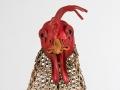 Chicken Head Barnyard Portrait Metal Art