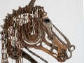 Horse Head Barnyard Portrait Metal Art