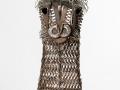 Llama Barnyard Portrait Metal Art