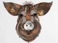 Pig Head  Barnyard Portrait Metal Art