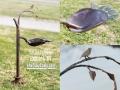 Birdbath RAIN-FOREST Metal Art
