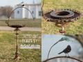 Birdbath TAPPED OUT Metal Art