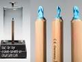 Blue Flip Flop Crayon Carving