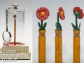 Red Sunflower Crayon Carving