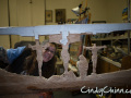 Cindy Chinn carving church pew