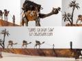 Scrap Metal Art Camel Saw Large
