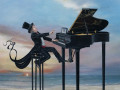 journey of the pianist painting by Cindy Chinn