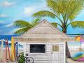 Beach theme Mural for kids rooms - Boy's Room, progress