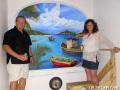 Mural in St Maarten by Cindy Chinn