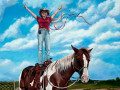 Journey of the Horse Trainer Painting by Cindy Chinn