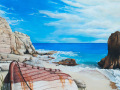Cupecoy Bay Painting by Cindy Chinn