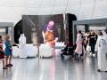 Video displayed at Doha Scrap Art Show