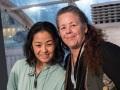 Cindy Chinn with artist Sayaka Ganz