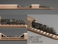 Train Pencil Carving by Cindy Chinn - Midwest Express