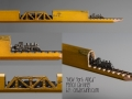 Train Pencil Carving by Cindy Chinn - New York Allied