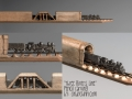 Train Pencil Carving by Cindy Chinn - Three Rivers Line
