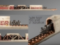 Train Pencil Carving by Cindy Chinn - Wagner Rocket