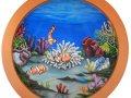 Underwater Mural Aquarium 4' 09 - Installed