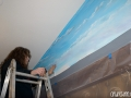 Installing the Background Mural