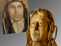 Wood Carving Portrait by Cindy Chinn