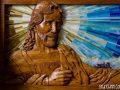 Wood Carving Custom Church pew by Cindy Chinn