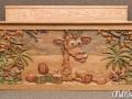 Wood Carving Custom Toy Box by Cindy Chinn