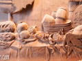 Wood Carving Custom Buffet Panel by Cindy Chinn