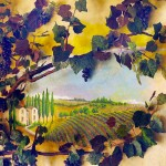 wine country mural