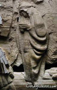 Carved Pew - Mourner