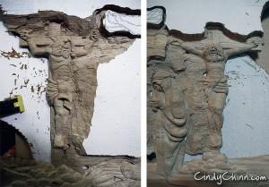 carved pew - criminals