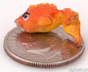 Tiny Sculpted Goldfish