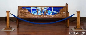 Hand Carved Church Pew - Complete