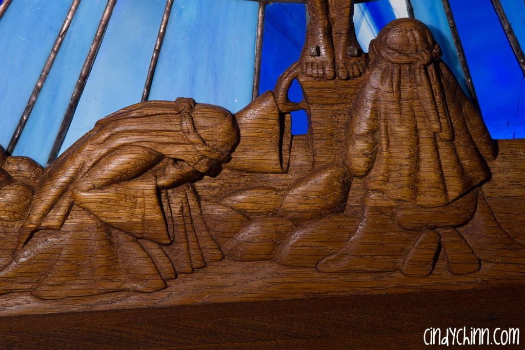 Hand Carved Church Pew - Mourners
