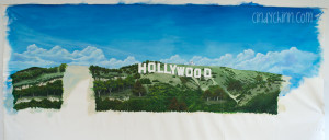 Hollywood sign mural