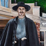 Gunfighter Mural for Movie Theatre