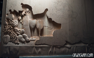 hand carved buffet cherry carving 08