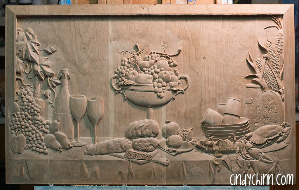 hand carved buffet cherry carving 19
