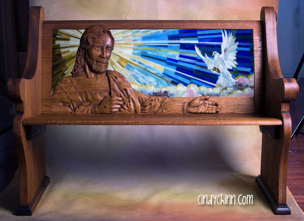 Photoshop mockup of completed pew