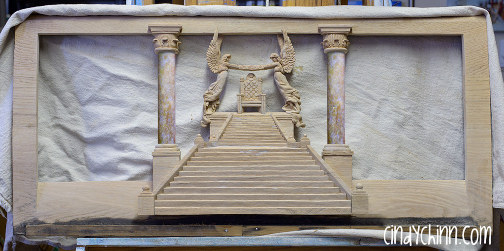 hand carved church pew 03 140205