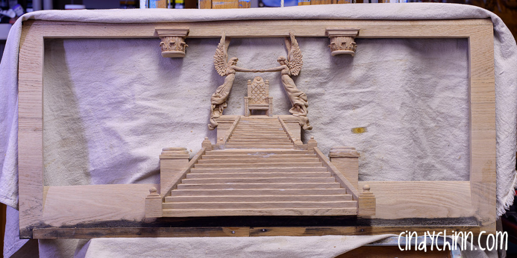 hand carved throne of grace unfinished 04