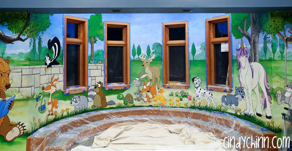 Deshler library mural