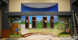 Library Mural for Kids area