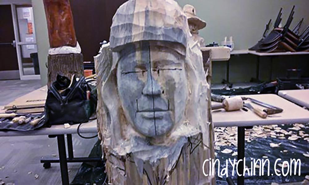 Custom Wood Carving Portrait by Cindy Chinn