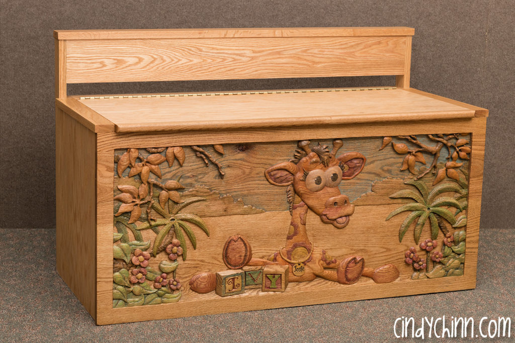 Carved Toy Box - Joise the Giraffe - Final