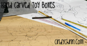 hand carved wooden toy boxes
