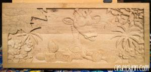 wood toy box josie carving 06